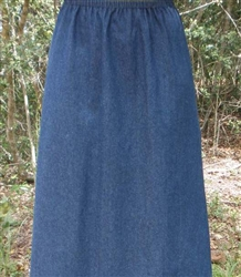 Girl A-line Skirt Navy Denim size 7