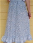 Girl A-line Skirt Dark Purple Linen Rayon size 7