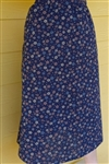 Ladies A-line Skirt with Ruffle White & Black floral cotton M 10 12
