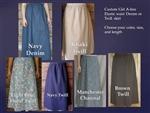 Girl Classic A-line Skirt Denim, Khaki Twill or similar fabric all sizes