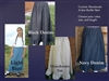 Girl A-line Skirt with Ruffle Denim or Khaki all sizes