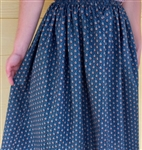 Ladies Full Skirt Dainty Brown cotton L 14 16