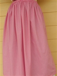 Ladies Full Skirt Dusty Pink Floral S 6 8 Petite