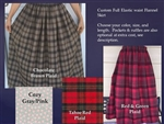 Ladies Full Skirt Custom in Flannel Plaid & More S, M, L, XL, 1X, 2X, 3X