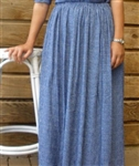 Ladies Full Skirt Blue & White Check Polyester Rayon 2X 26 28 Tall