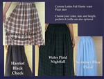 Ladies Full Skirt in Seersucker & Plaids S, M, L, XL, 1X, 2X, 3X