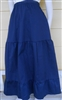 Girl Full Skirt Navy Blue Twill size L 12 14