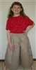 Split Skirt Girl Khaki Twill size 5