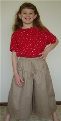 Split Skirt Girl Khaki Twill cotton size 5
