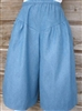 Split Skirt Girl Light Blue Denim 7