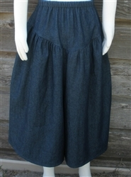 Girl Split Skirt Navy Denim & Other fabrics up to size 12