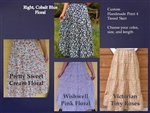 Ladies Skirt 4 Tiered Cotton Floral Print or Plaid all sizes