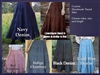 Ladies Skirt 5 Tiered Navy Denim & More all sizes
