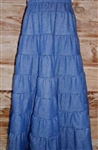 Ladies Skirt 8 Tiered Navy Denim or Other fabric all sizes