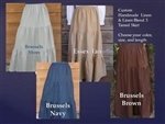 Ladies & Plus Linen Tiered Skirt all lengths & sizes