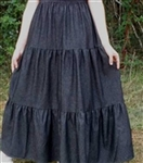 Girl Tiered Jean Skirt Black Denim size 12 14 Petite