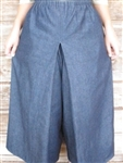 Ladies Split Skirt Navy Blue Jean Denim Skirt XL 18 20 Petite