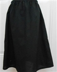 Girl Slip Cotton Black Batiste size 5 ex-long