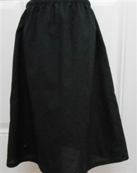 Girl Slip Cotton Black Batiste size 8 ex-long