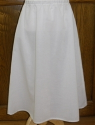 Girl Slip Cotton White Batiste size 6 X-long