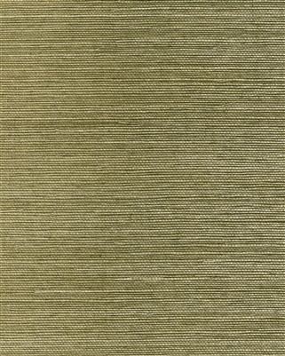 Deep  olive green tight sisal weave grasscloth