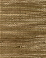 Soft copper brown natural grasscloth