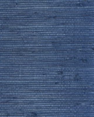 Midnight Blue Heavy Jute Natural Grasscloth