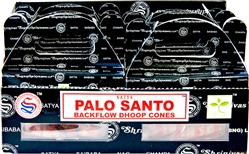 Wholesale Satya Palo Santo Backflow Cones 24 Cones Pack (6/Box)