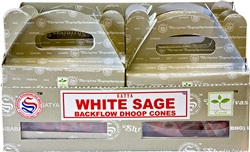 Wholesale Satya White Sage Backflow Cones 24 Cones Pack (6/Box)