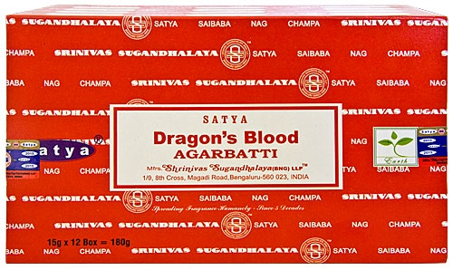 1020 Satya Dragons Blood Incense 15 Gram Packs (12/Box)