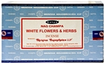 Wholesale Satya White Flowers & Herbs Incense 15 Gram Packs (12/Box)