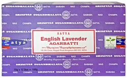 Wholesale Satya English Lavender Incense 15 Gram Packs (12/Box)