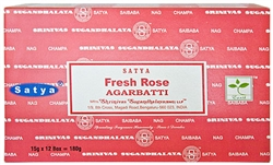Wholesale Satya Fresh Rose Incense 15 Gram Packs (12/Box)