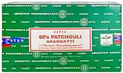 Wholesale Satya 60's Patchouli Incense 15 Gram Packs (12/Box)