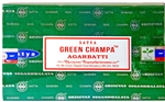 Wholesale Satya Green Champa Incense 15 Gram Packs (12/Box)