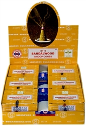 Wholesale Satya Sandalwood Cones 12 Cones Pack (12/Box)