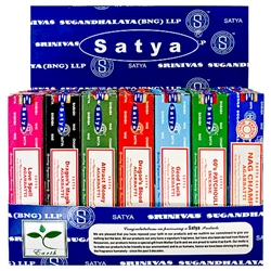 Wholesale Satya Wellness Series Incense Display 15 Gram Packs #1 (42/Packs)