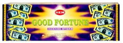 Wholesale Hem Good Fortune Incense 8 Stick Packs (25/Box)
