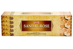 Wholesale Hem Sandal-Rose Incense 8 Stick Packs (25/Box)