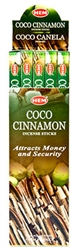 Wholesale Hem Coco-Cinnamon Incense 8 Stick Packs (25/Box)