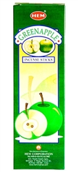 Wholesale Hem Green Apple Incense 8 Stick Packs (25/Box)