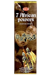 Wholesale Hem 7 African Powers Incense 8 Stick Packs (25/Box)