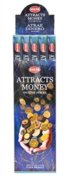 Wholesale Hem Attracts Money Incense 8 Stick Packs (25/Box)