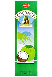 Wholesale Hem Coconut Incense 8 Stick Packs (25/Box)