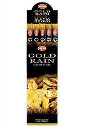 Wholesale Hem Gold Rain Incense 8 Stick Packs (25/Box)