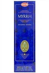 Wholesale Hem Myrrh Incense 8 Stick Packs (25/Box)