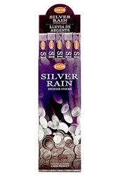 Wholesale Hem Silver Rain Incense 8 Stick Packs (25/Box)