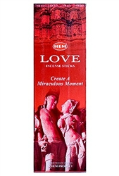 Wholesale Hem Love Incense 8 Stick Packs (25/Box)