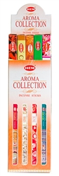 Wholesale Hem Aroma Collection Incense 8 Stick Packs (25/Box)