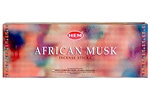 Wholesale Hem African Musk Incense 20 Stick Packs (6/Box)